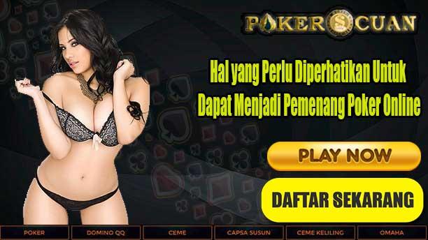 Menang bermain poker
